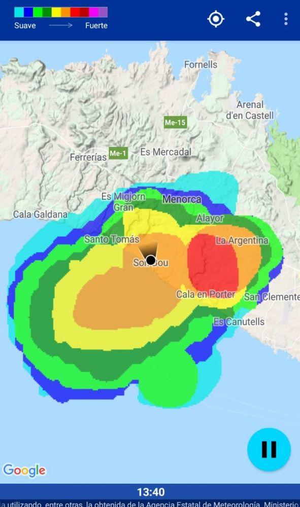 Imagen del radar