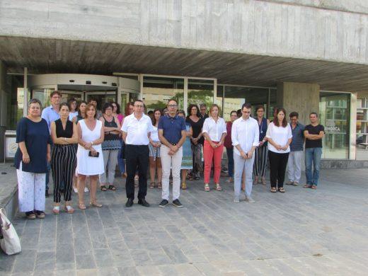 Minuto de silencio en el Consell de Menorca esta mañana