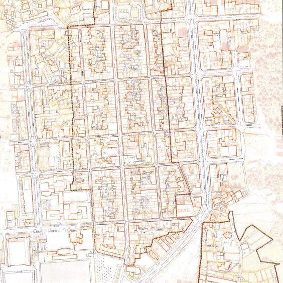 Plano del casco antiguo de Sant Lluís