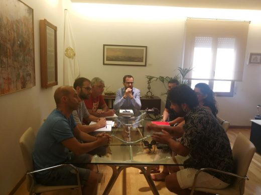 Reunión mantenida esta mañana en el Ayuntamiento de Maó