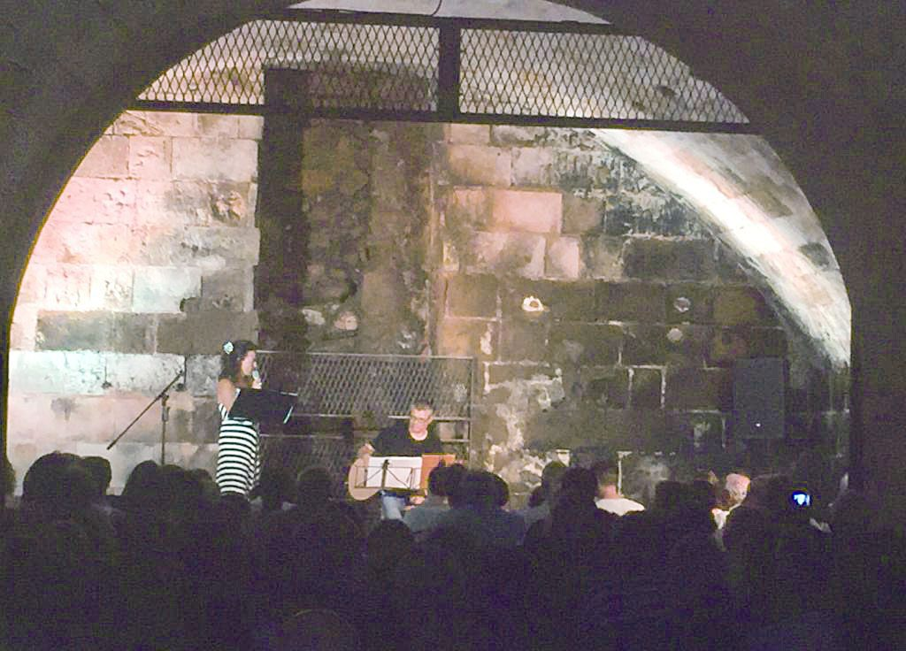 Castell de Sant Antoni anoche.