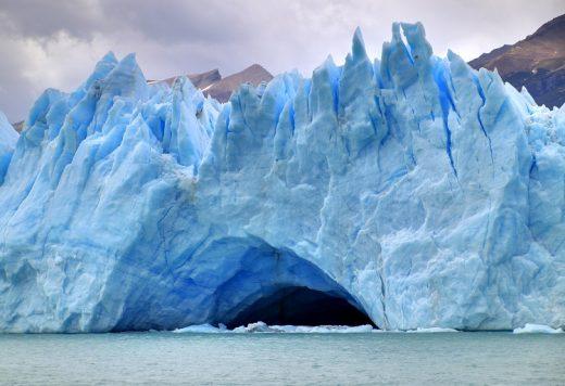Imagen de un glaciar.