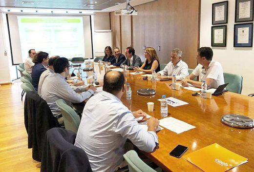Imagen de la reunión celebrada esta mañana.