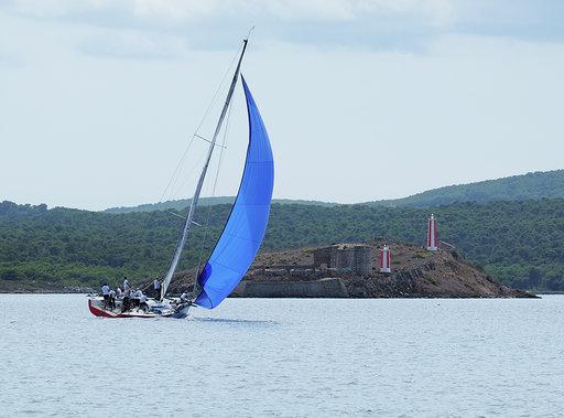 El Frescachón, en plena regata.
