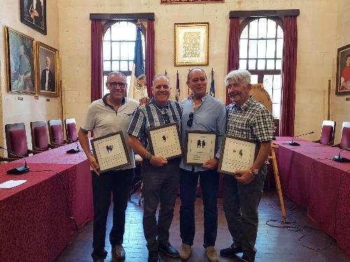 Imagen del acto de despedida (Foto: Ayuntamiento de Ciutadella)