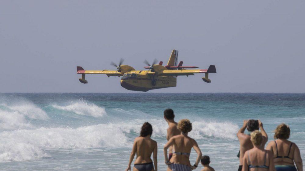 Un momento del espectáculo aéreo (Foto: Karlos Hurtado)