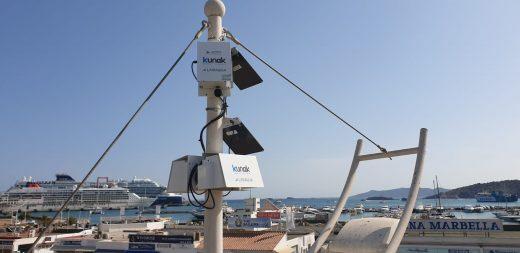 Imagen de los sensores que se instalan en el puerto de Maó (Foto: Kunak Technologies)