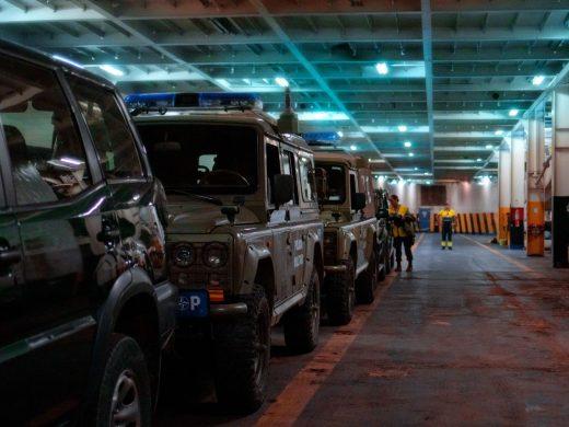 (Fotos) Comienza el despliegue del cuartel general de la OTAN de Bétera hacia Menorca