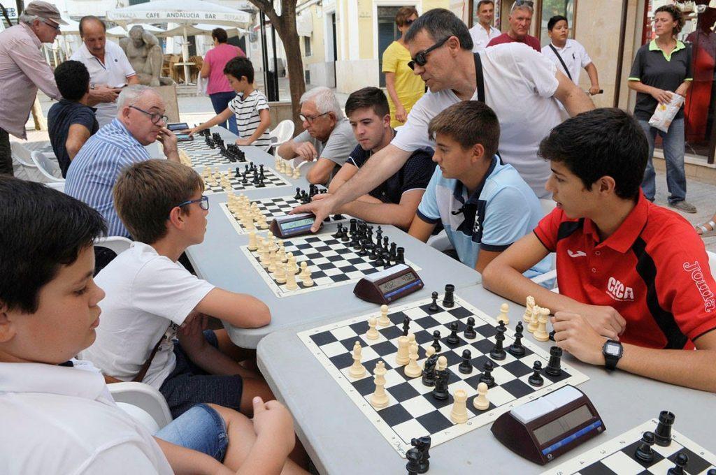 Un momento de las partidas (Foto: Tolo Mercadal)