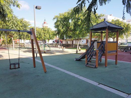 Imagen del parque infantil.