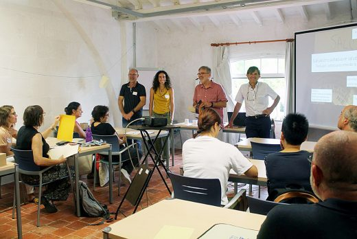 Imagen del inicio del curso esta mañana en el Lazareto.