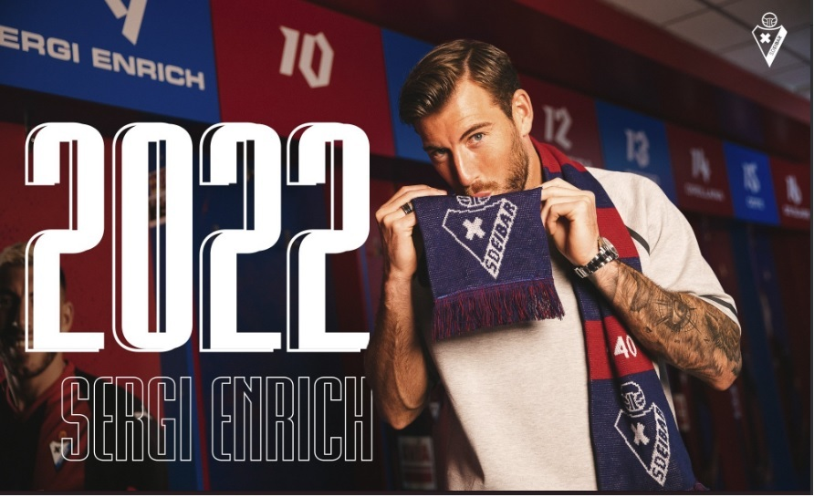 Sergi Enrich, jugador del Eibar.