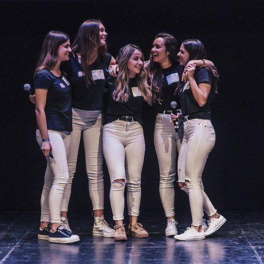 Paula, Lucía, Nuria, Sandra y Lucía, integrantes de LPSN Company. FOTO.- LPSN
