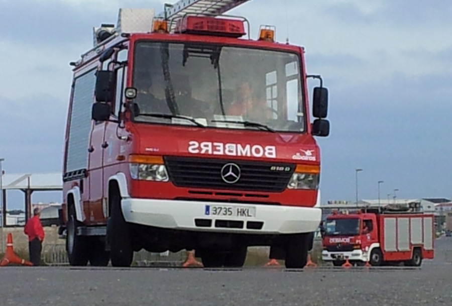 Los bomberos de Menorca tr