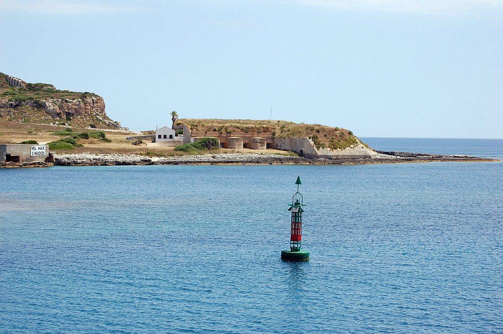 Estación Jaume Ferrer en la bocana del puerto de Mahón