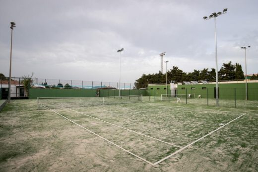 Imagen de las pistas de tenis.