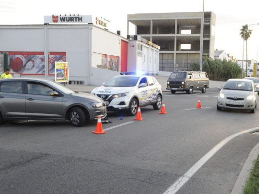 Cuatro heridos en un accidente de tráfico a la entrada de Maó