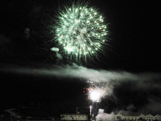 Castillos en el cielo para el final del día grande de las fiestas