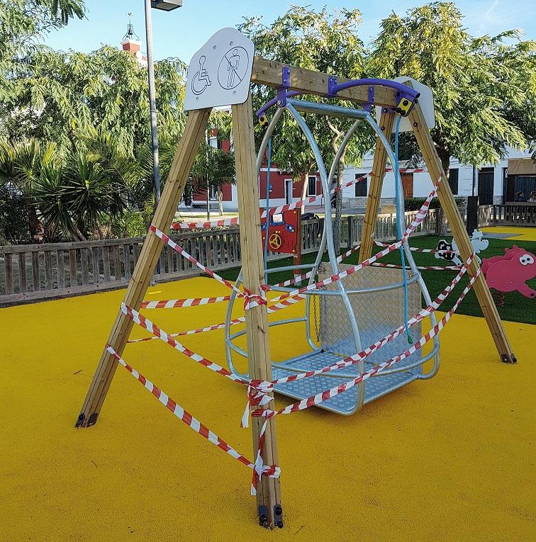 Este es el juego que retirarán del parque infantil de la Esplanada de Es Castell