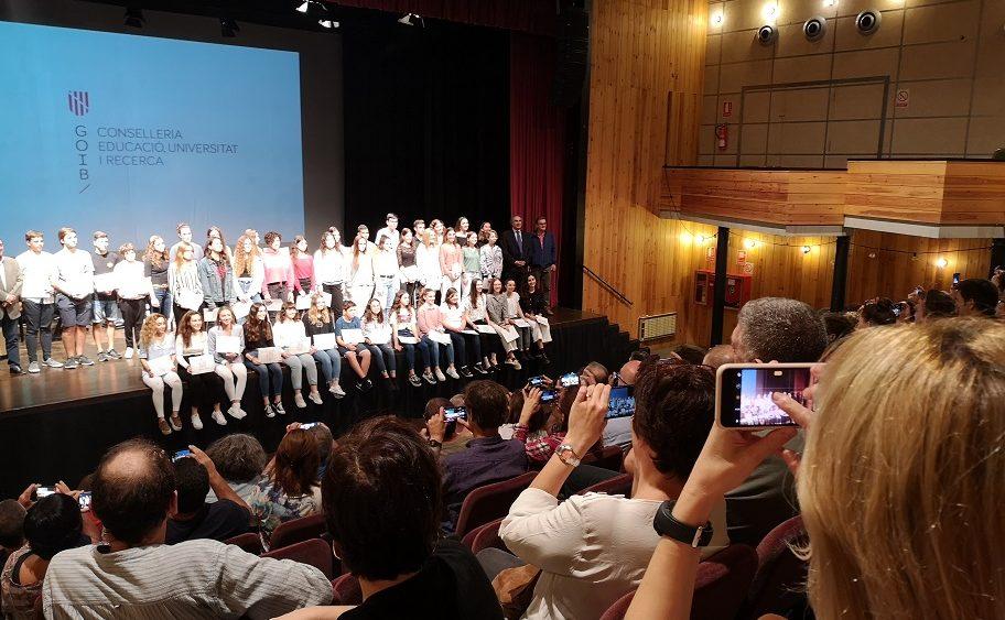 Una imagen de la entrega de premios (Fotos: Govern balear)