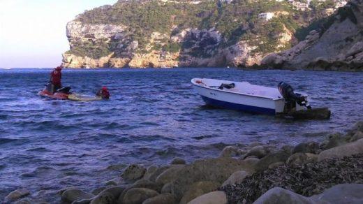 Llegada de una de las pateras (Foto: mallorcadiario.com)
