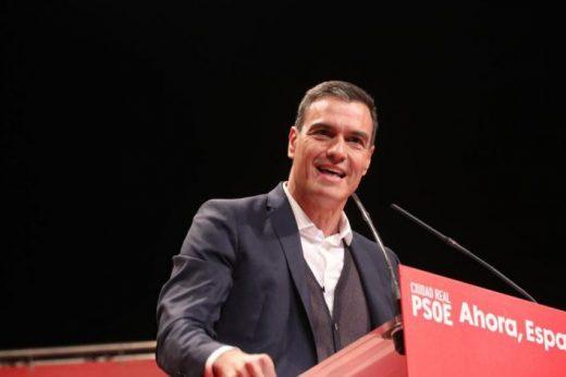 Pedro Sánchez, durante un mítin (Foto: mallorcadiario.com)