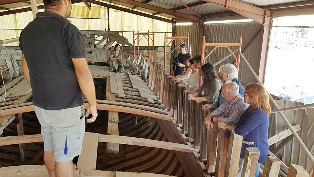 Se acaban 17 años de incertidumbre sobre el futuro de esta histórica embarcación, la Valldemossa (Fotos: Ayuntamiento Ciutadella)