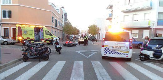 Imagen del lugar de la colisión (Foto: Policía Local de Ciutadella)