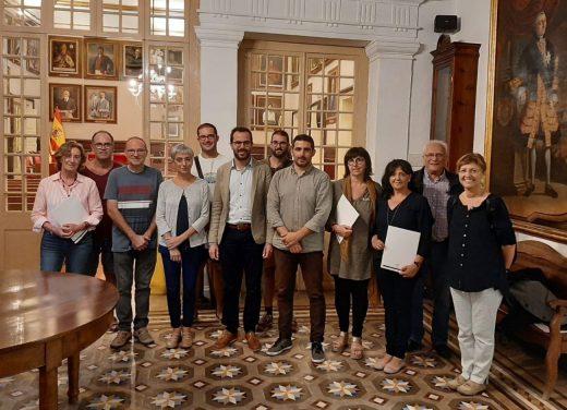 Imagen de la reunión celebrada en el Ayuntamiento de Maó