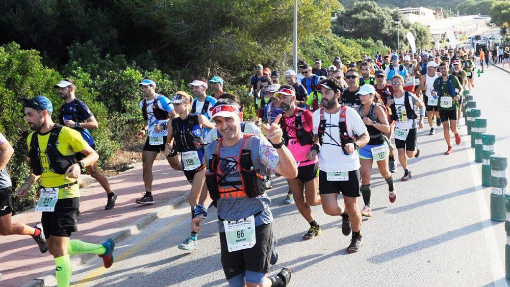 Imagen de la salida de la prueba en Son Bou (Fotos: Tolo Mercadal y October Trail)