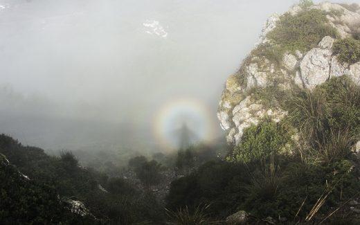 """Imagen del """"espectro de Brocken"""" en Monte Toro (Foto: Mikel Llambías)"""