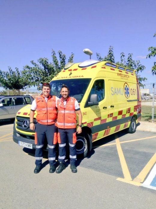 Imagen de las nuevas ambulancias (Foto: Samu 061)
