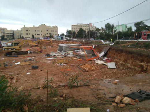 El tornado ha dejado esta imagen a su paso por Cala Gració (Foto: 112 Illes Balears)