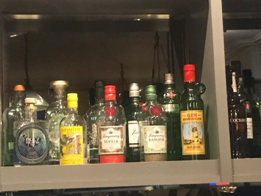 El Gin Xoriguer, junto al resto de ginebras (Foto: Kate Roberts)