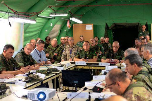 Imagen de una de las reuniones de coordinación realizadas