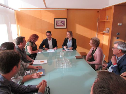Imagen de la reunión celebrada esta mañana en el Consell de Menorca