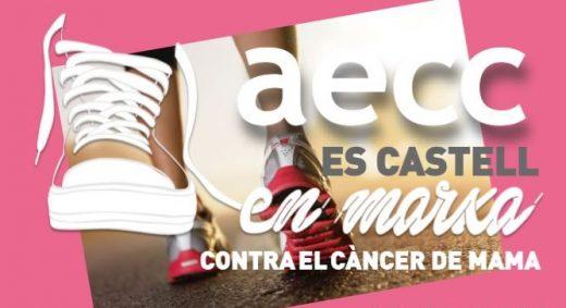 Imagen del cartel sobre la caminata contra el cáncer de mama