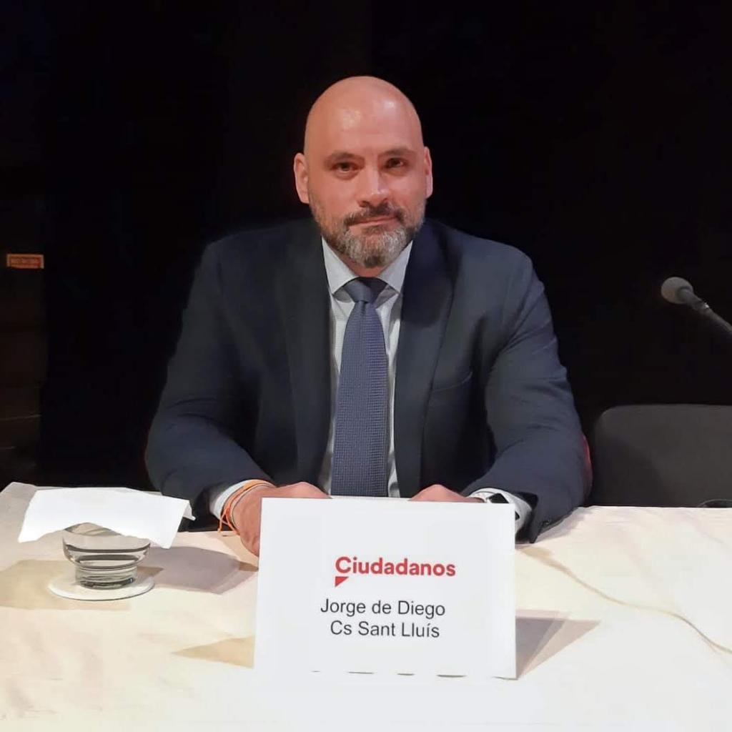 El concejal de Ciudadanos en Sant Lluís, Jorge de Diego