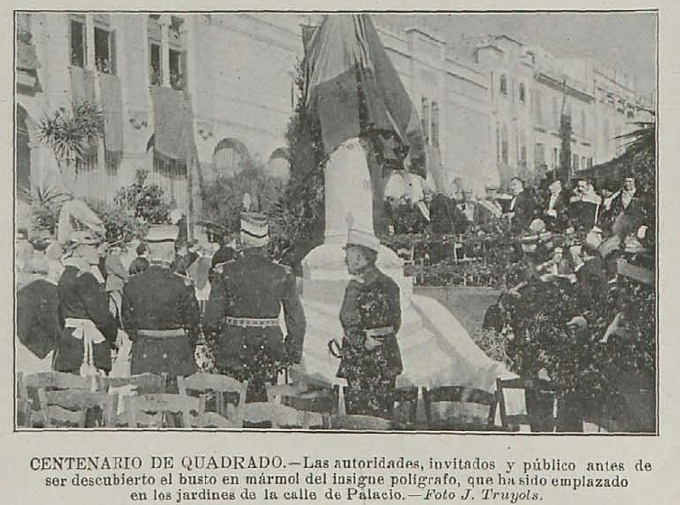 Monumento en Palma en 1919.