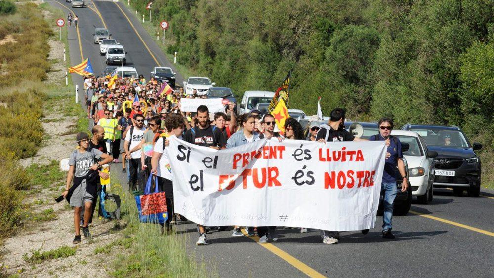 Un momento de la marcha (Fotos: Tolo Mercadal)