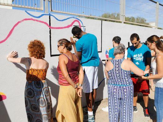 "(Fotos) Un mural reivindicativo para dar un ""Mate al Estigma"" de la salud mental"