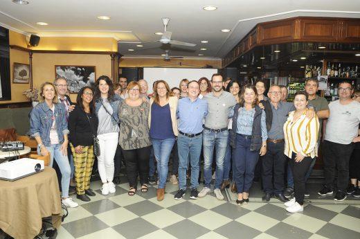 Imagen del inicio de la campaña electoral del PSOE