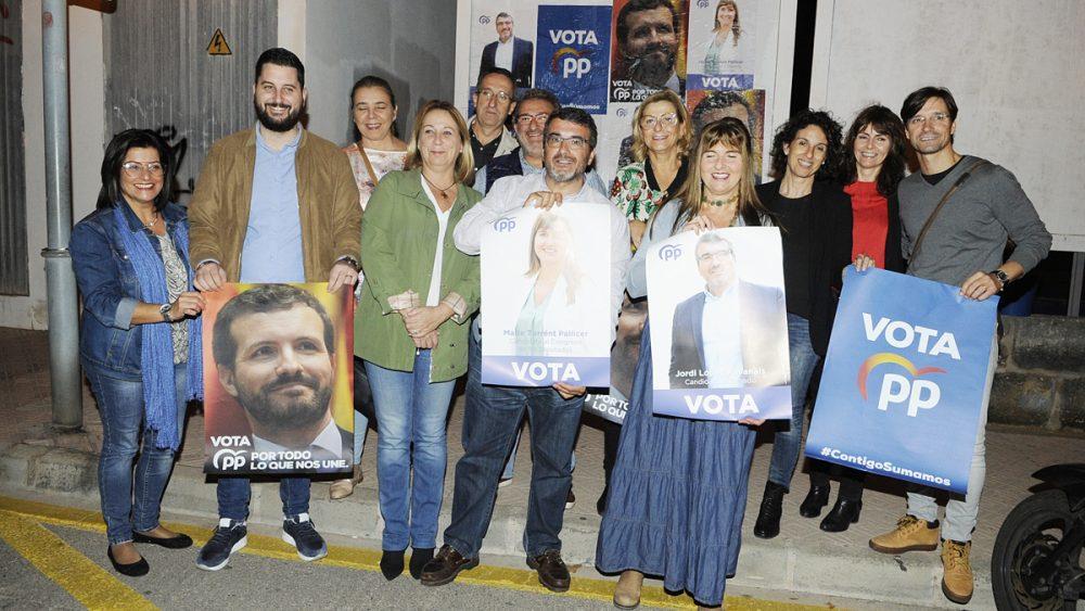 Imagen del inicio de la campaña electoral del PP
