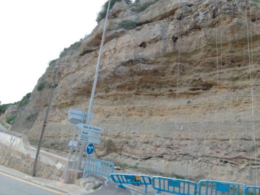 Zona del acantilado de Cala Figuera en la que se ha actuado
