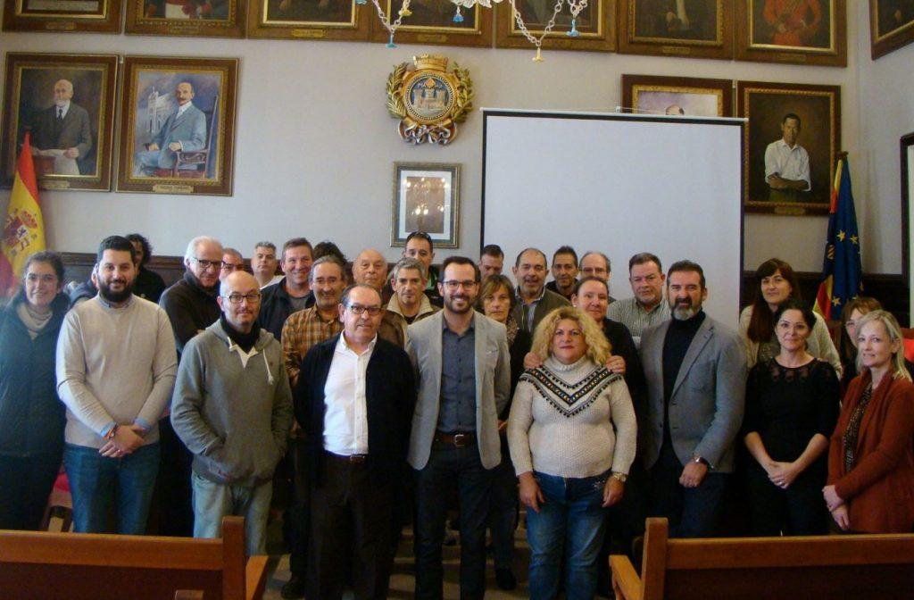 Imagen del acto de recepción realizado esta mañana en el Ayuntamiento de Maó