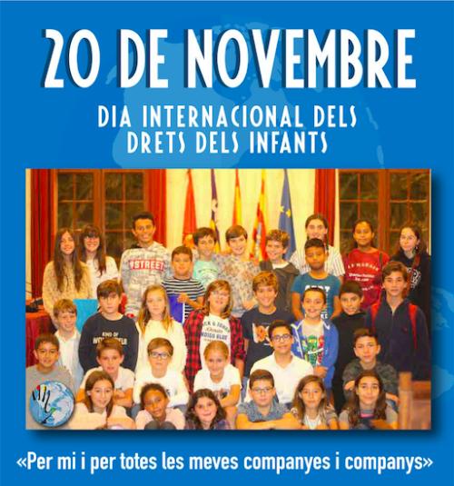 Cartel del Día Internacional de los Derechos de los niños