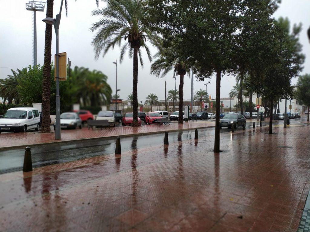 La lluvia ha dejado agua en todas las localidades de Menorca