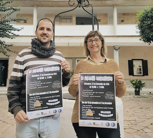 Imagen de la presentación de actividades de visualización del cielo nocturno que se realizarán en Es Castell