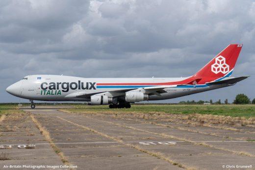 Imagen de un avión de carga de Cargolux
