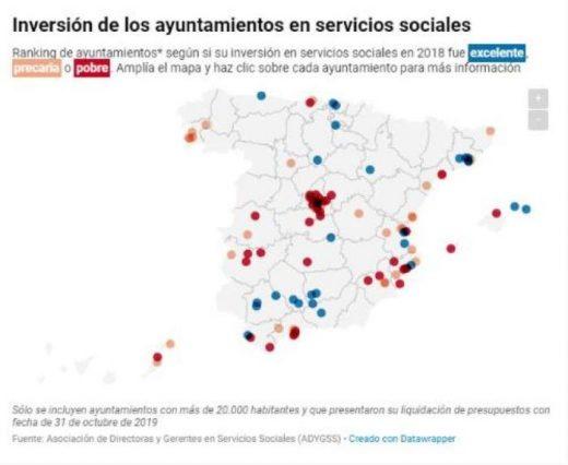 Mapa publicado por el ayuntamiento de Ciutadella con los datos del ranking mencionado